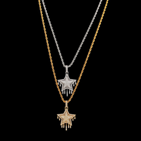 Star Gold/Silver Iced Out Necklace