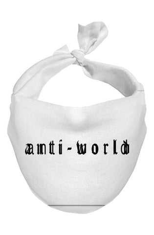 Anti-World txt logo - Simple Face Scarves (3 Pack)