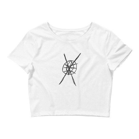 A-W Logo Women's Crop Tee