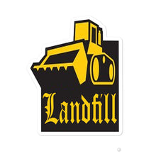 "Load image into Gallery viewer, ""Landfill Bulldozer"" Stickers"