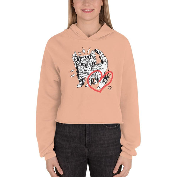"""4 The Love of Dog"" Crop-Hoodie Sweatshirt (Sold Out)"