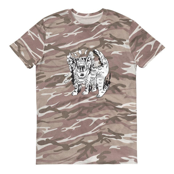 """Camo Doggy"" Short-Sleeve T-Shirt by Maia Kicklighter"