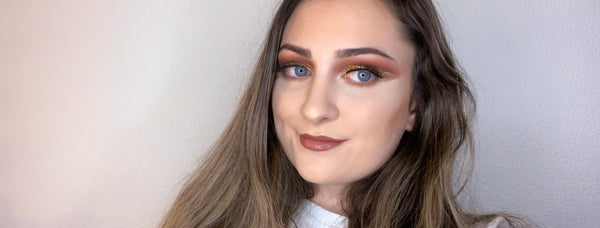 AUTUMNAL GLAM MAKEUP LOOK | USING THE NEW JUSTIFY BEAUTY 3D FAUX MINK LASHES - GUEST BLOG BY THECOVETEDLIFESTYLE