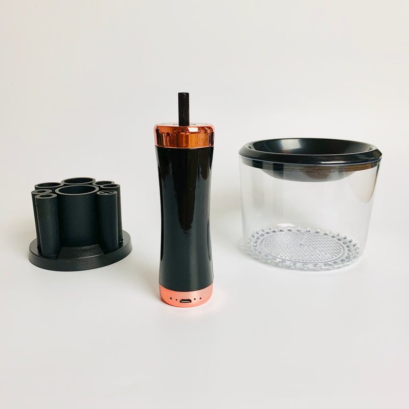 Electric Makeup Brush Cleaner and DryerBlackMakeupJustify Beauty