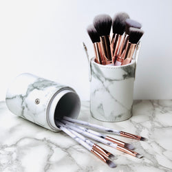 Marble Brush Set with CaseJustify Beauty