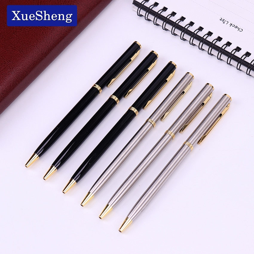 1PC Stainless Steel Rod Rotating Metal Ballpoint Pen