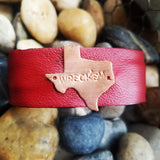 College and School Spirit Leather Cuffs