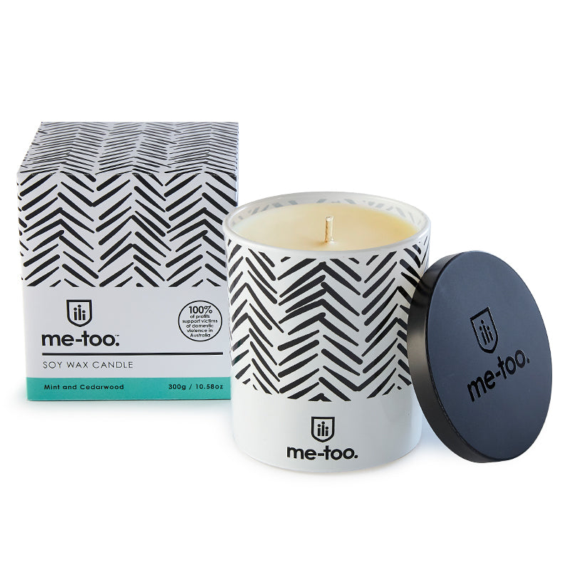 Scented Candle - Mint & Cedarwood