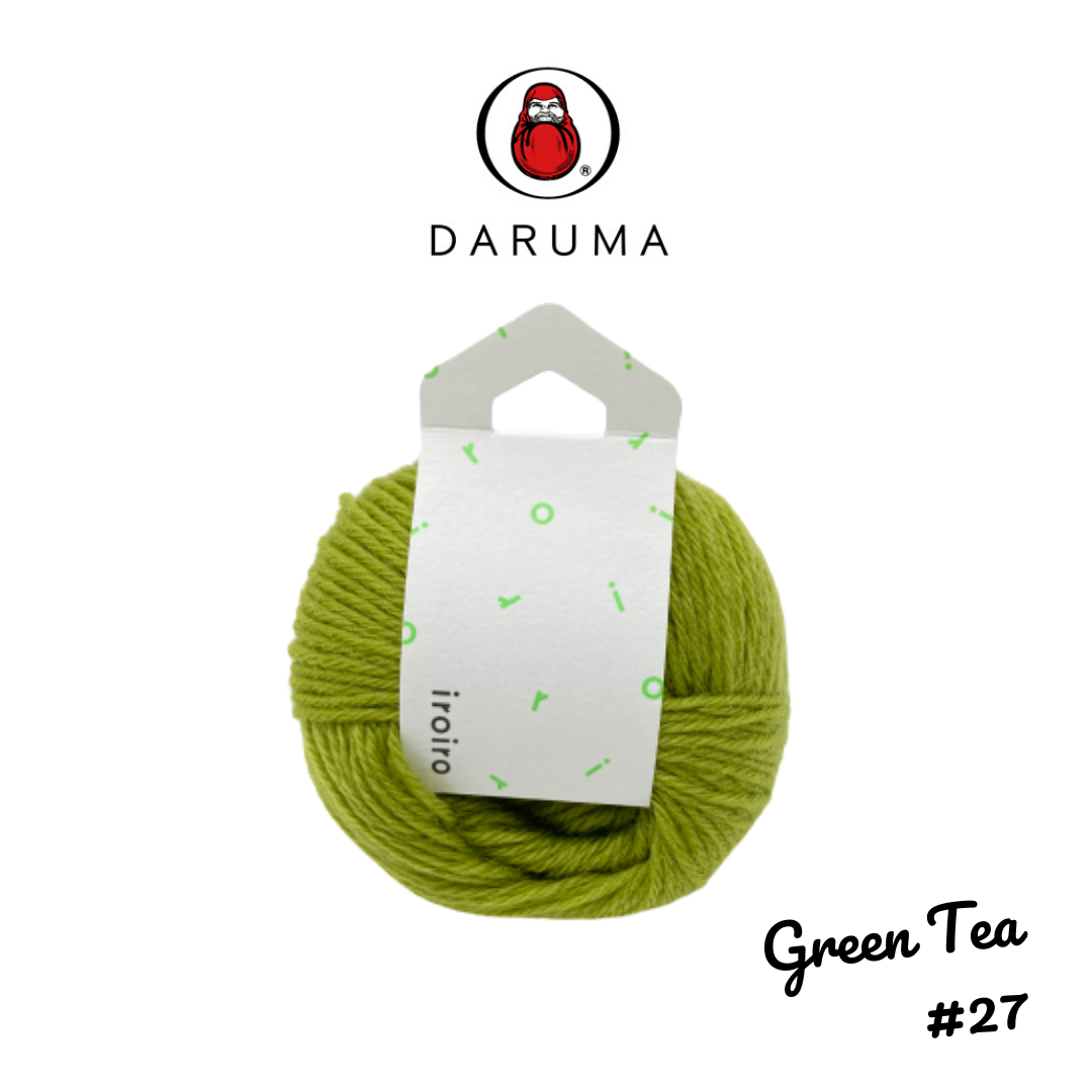 DARUMA iroiro yarn - Green Tea