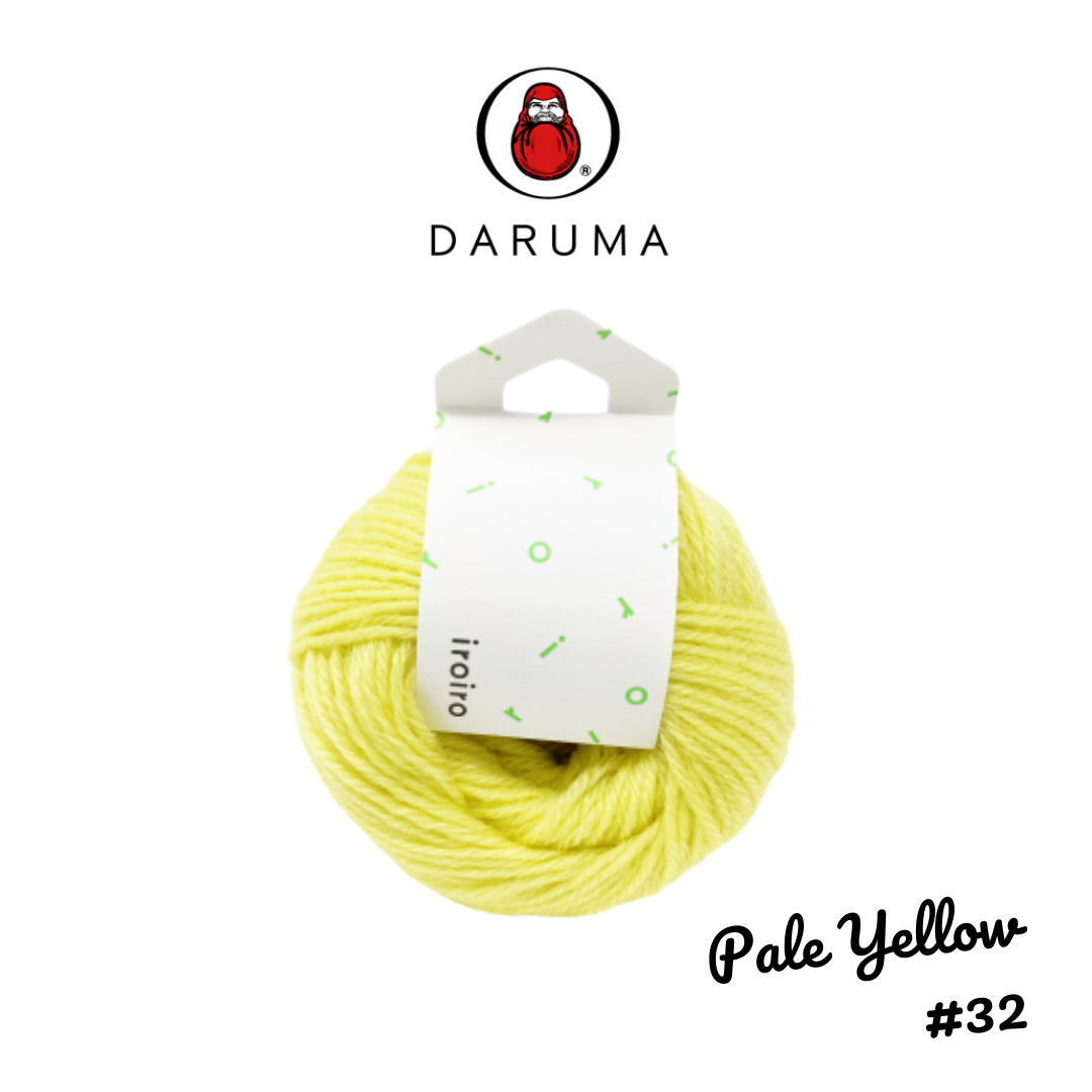DARUMA iroiro yarn - Pale Yellow