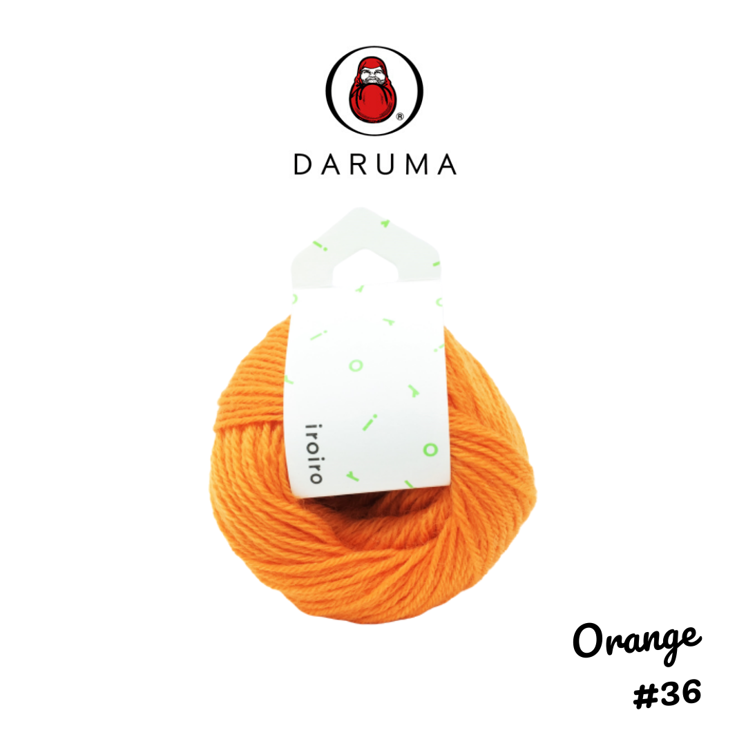 DARUMA iroiro yarn - Orange