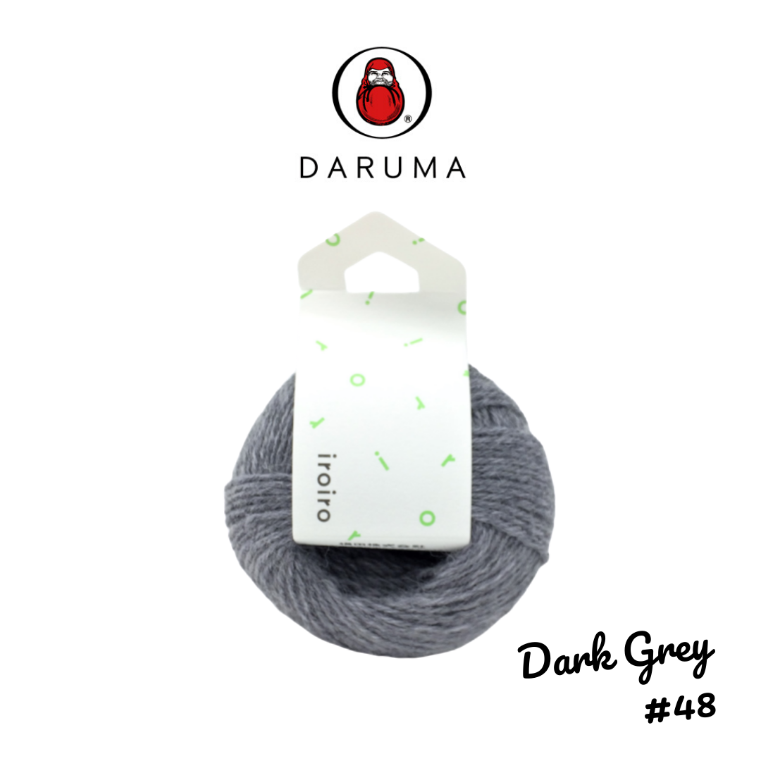 DARUMA iroiro yarn - Dark Grey