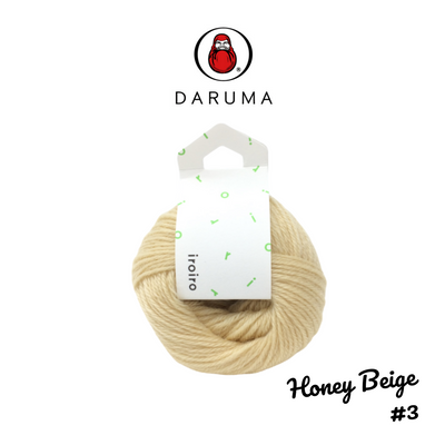 DARUMA iroiro yarn - Honey Beige
