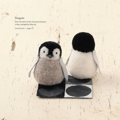 Adorable Pom Pom Animals Craft English Book - Kazuko Ito