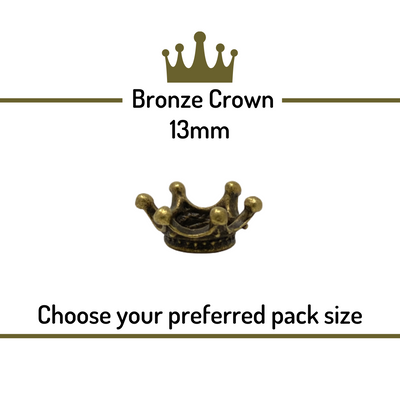 Crowns for Needle Felted Creations -  Bronze 13mm