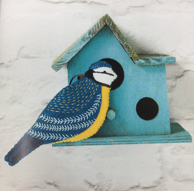 Folk Embroidered Felt Birds Book - Corinne Lapierre