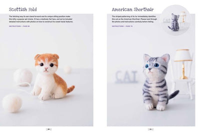 Cute Needle Felted Animal Friends English Book - Sachiko Susa