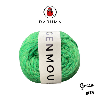 DARUMA Genmou Yarn - Green #15