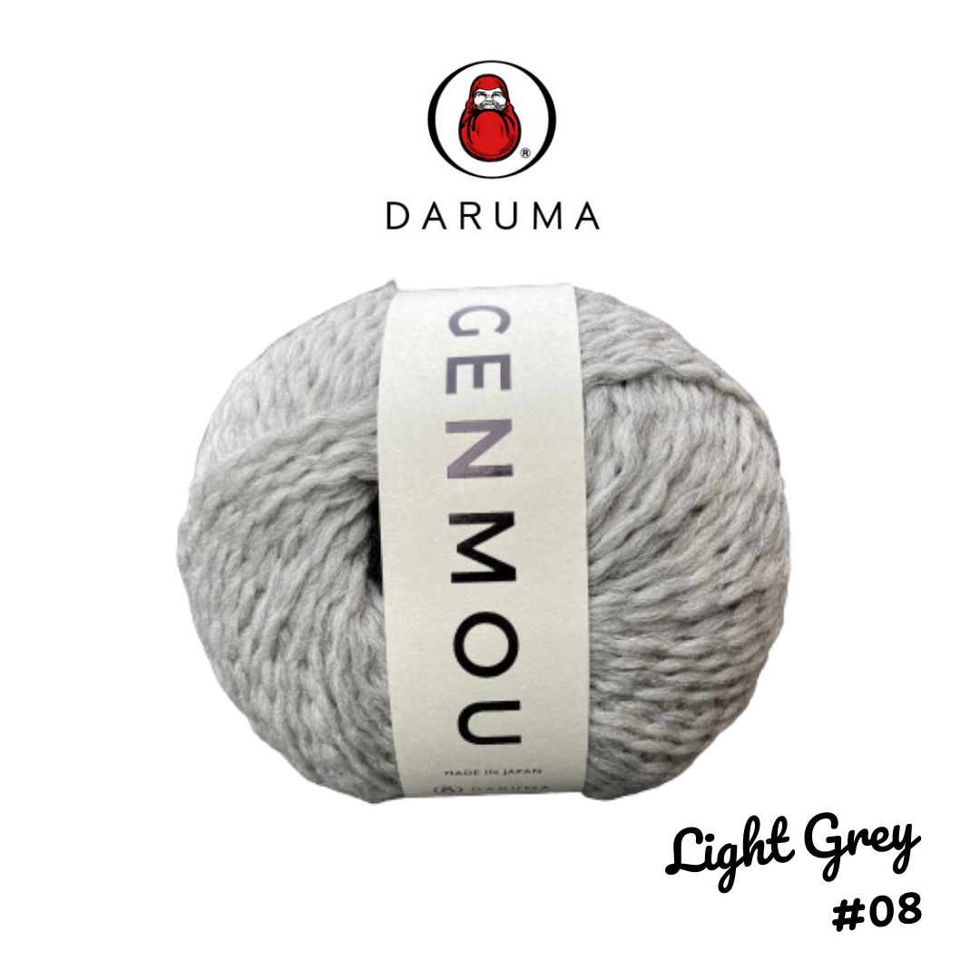 DARUMA Genmou Yarn - Light Grey #8