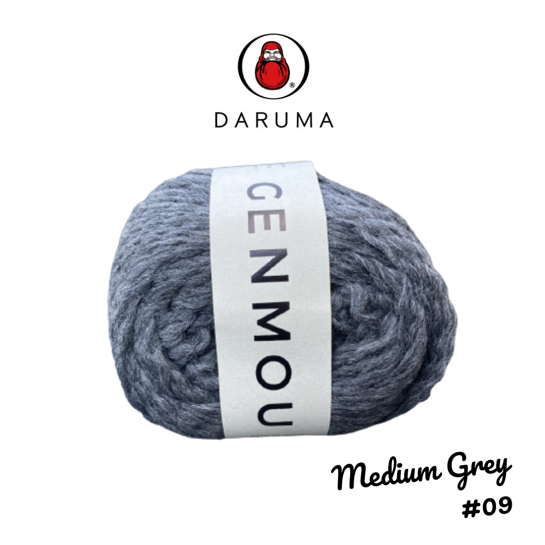 DARUMA Genmou Yarn - Medium Grey #9