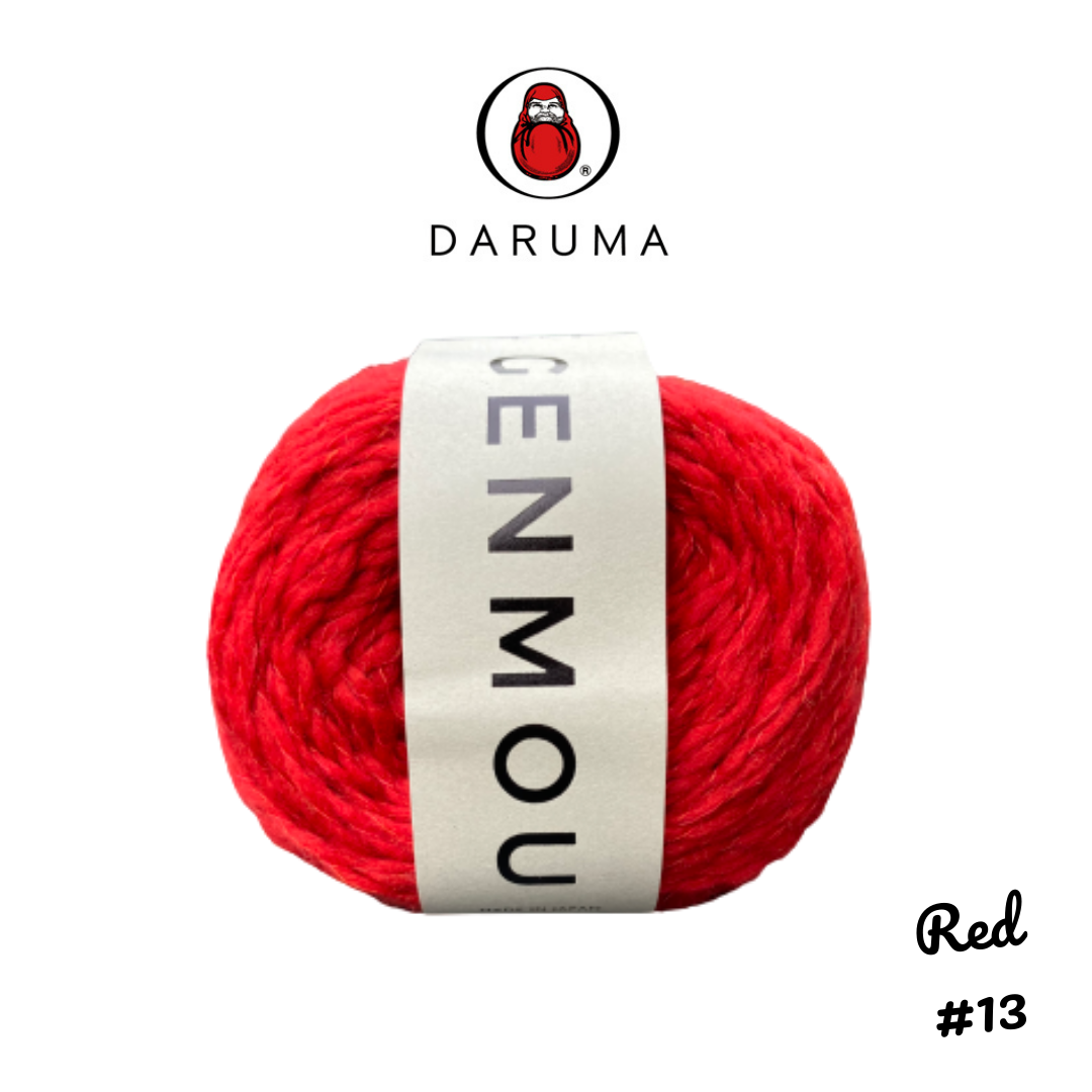 DARUMA Genmou Yarn - Red #13