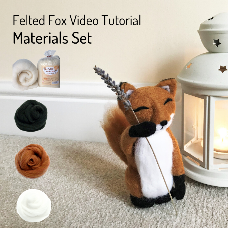 Needle Felted Fox Video - Materials Set