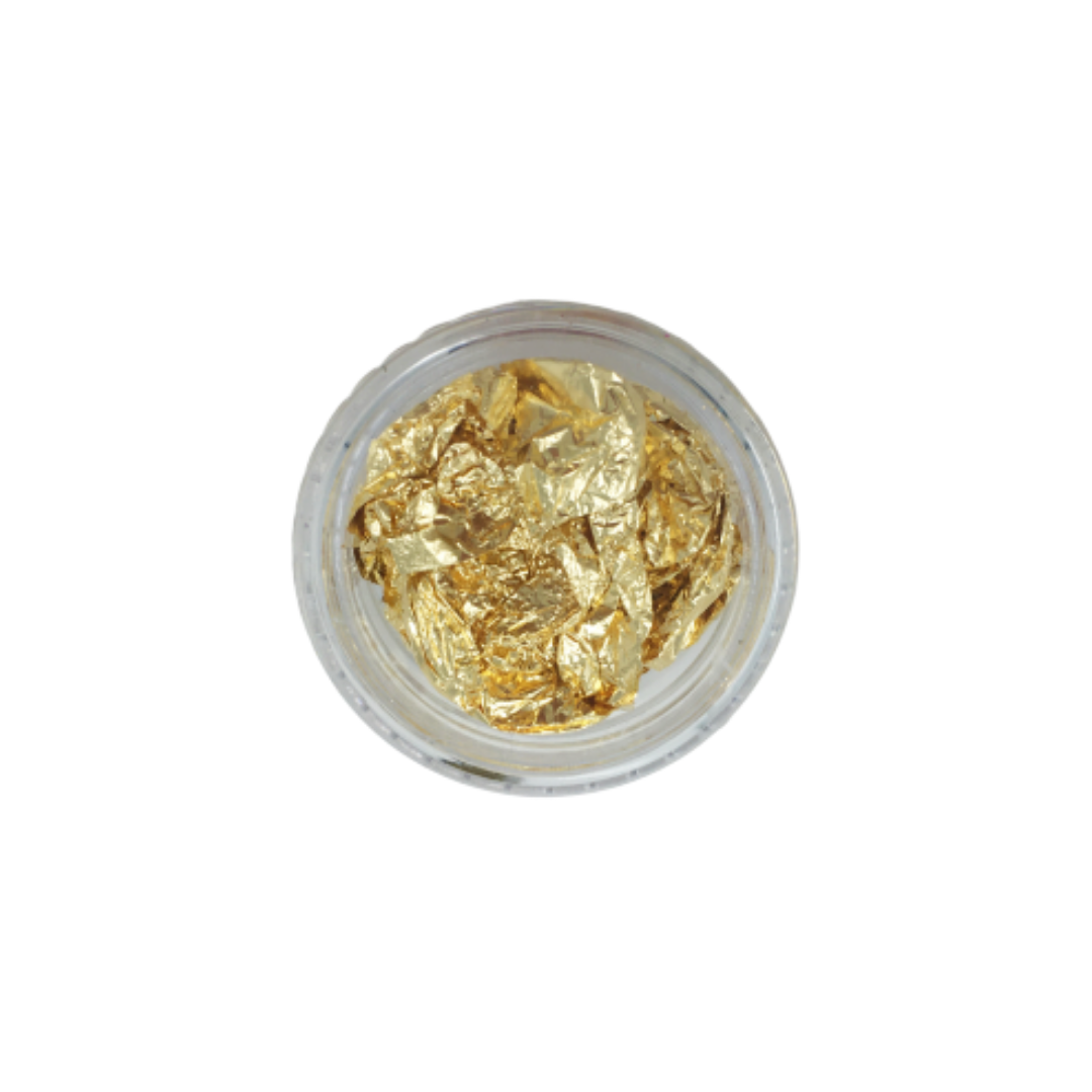 Gold Foil Flakes for Resin Creation - Small Pot