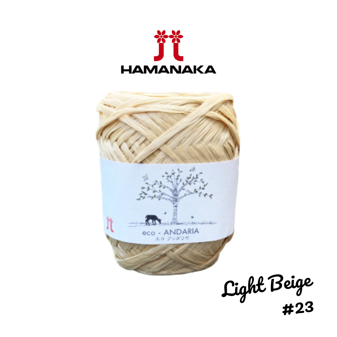 Hamanaka Eco-Andaria Raffia Yarn - Light Beige #23