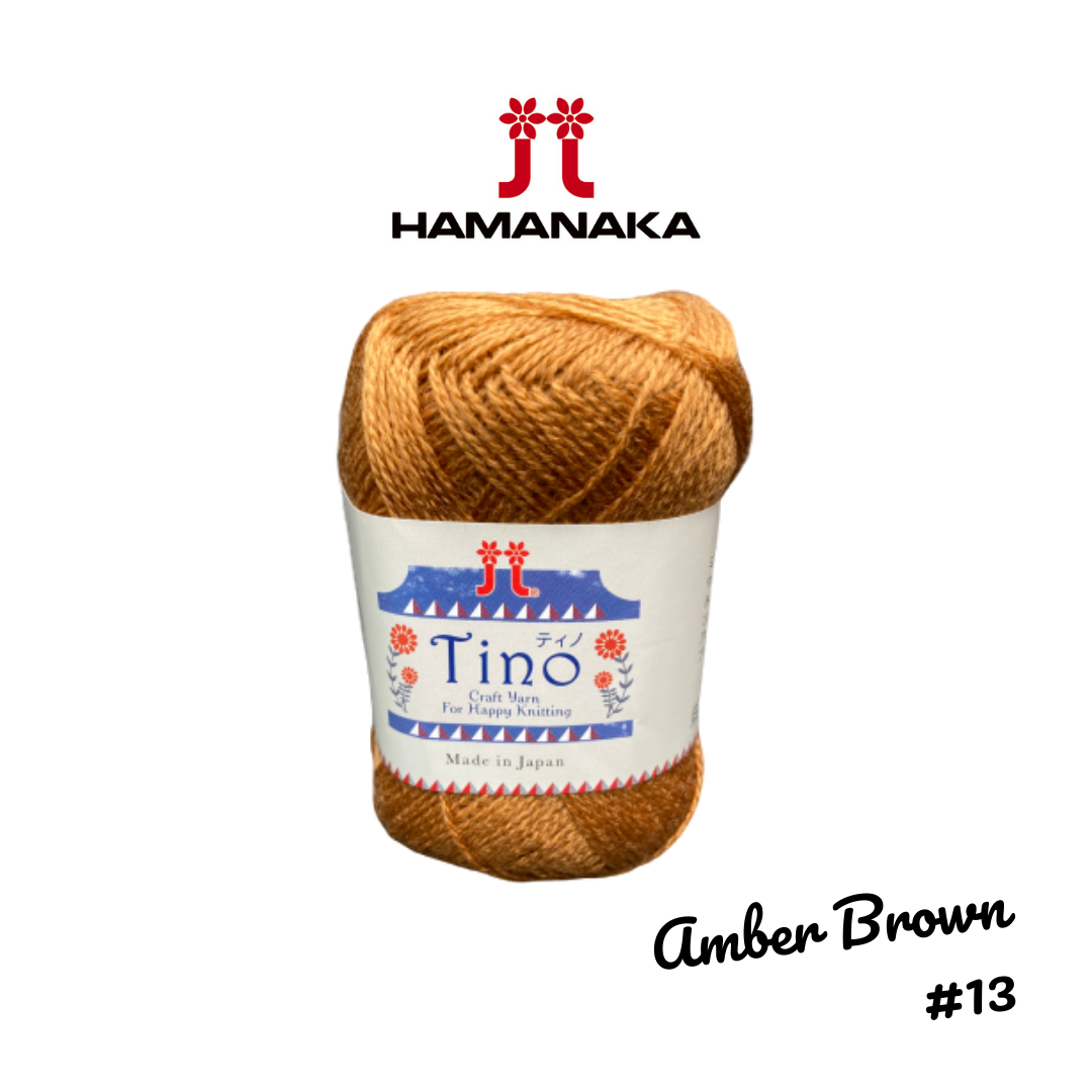 Hamanaka Tino Yarn - Amber Brown #13