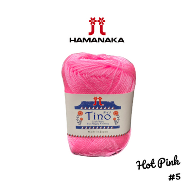 Hamanaka Tino Yarn - Hot Pink #5