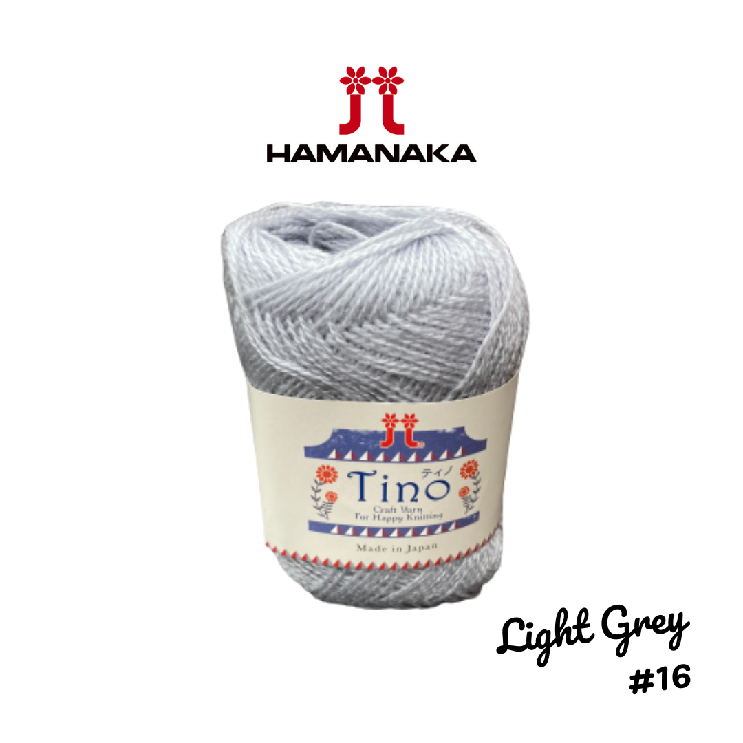 Hamanaka Tino Yarn - Light Grey #16
