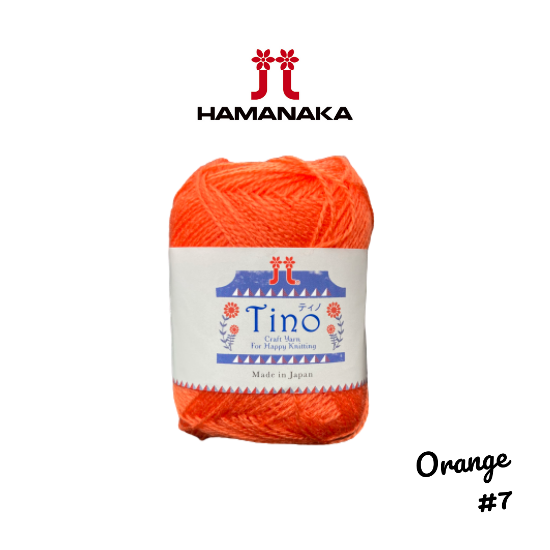 Hamanaka Tino Yarn - Orange #7