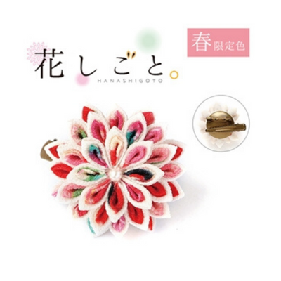 Hanashigoto Tsumami Kanzashi Hair Comb Craft Kit - Chrysanthemum