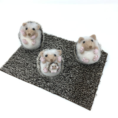 Realistic Hedgehog Mohair Fabric  - 17.5cm x 25cm | 9-10mm spikes