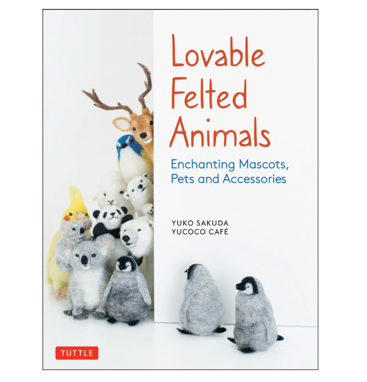 Lovable Felted Animals Book by Yuko Sakuda (English)