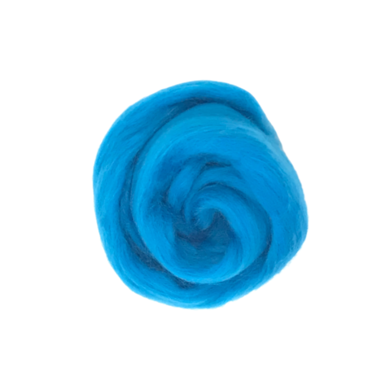 Needle Felting Wool Roving - Azure M018