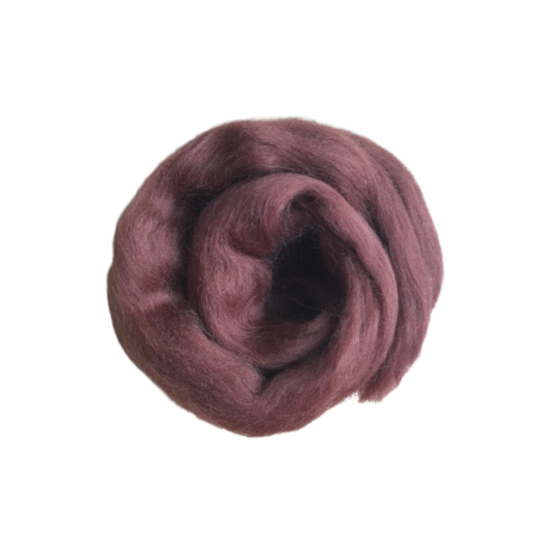 Needle Felting Wool Roving - Brown M004