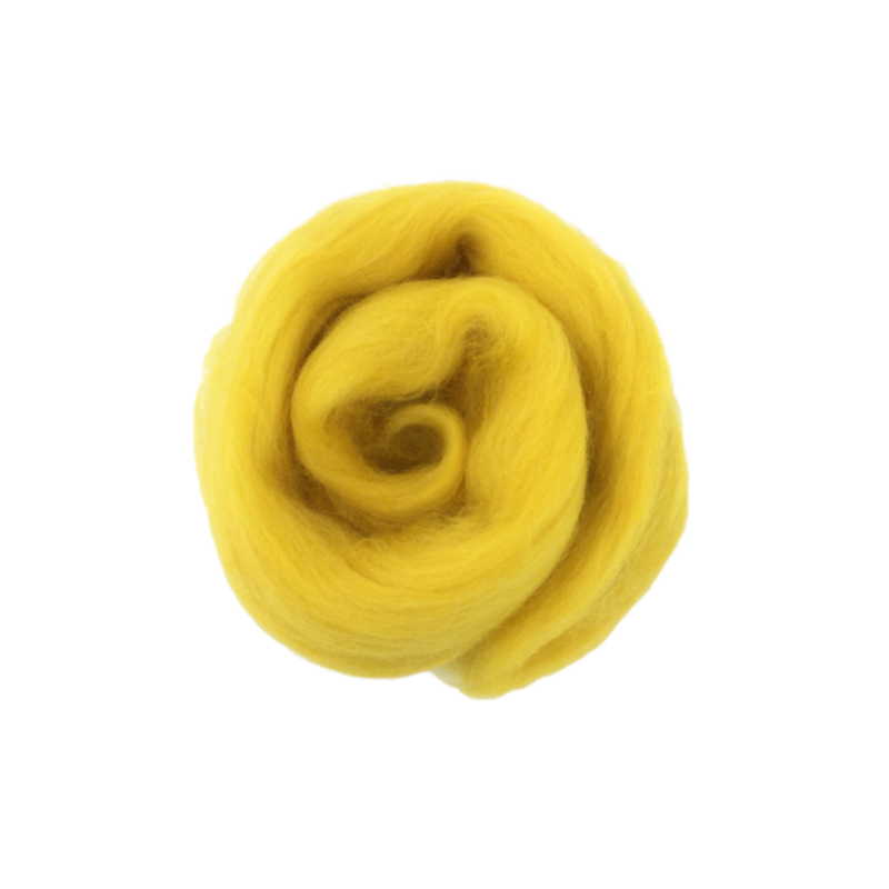 Needle Felting Wool Roving - Buttercup Yellow M012