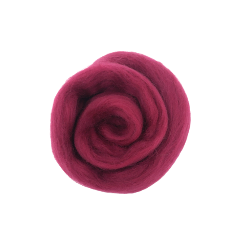 Needle Felting Wool Roving - Crimson M023