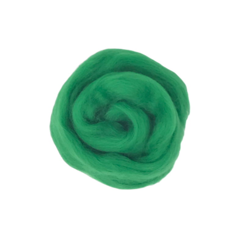 Needle Felting Wool Roving - Emerald M013