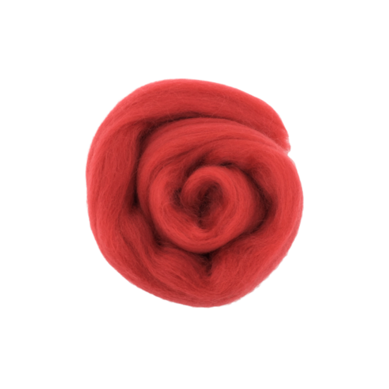 Needle Felting Wool Roving - Fuchsia M022