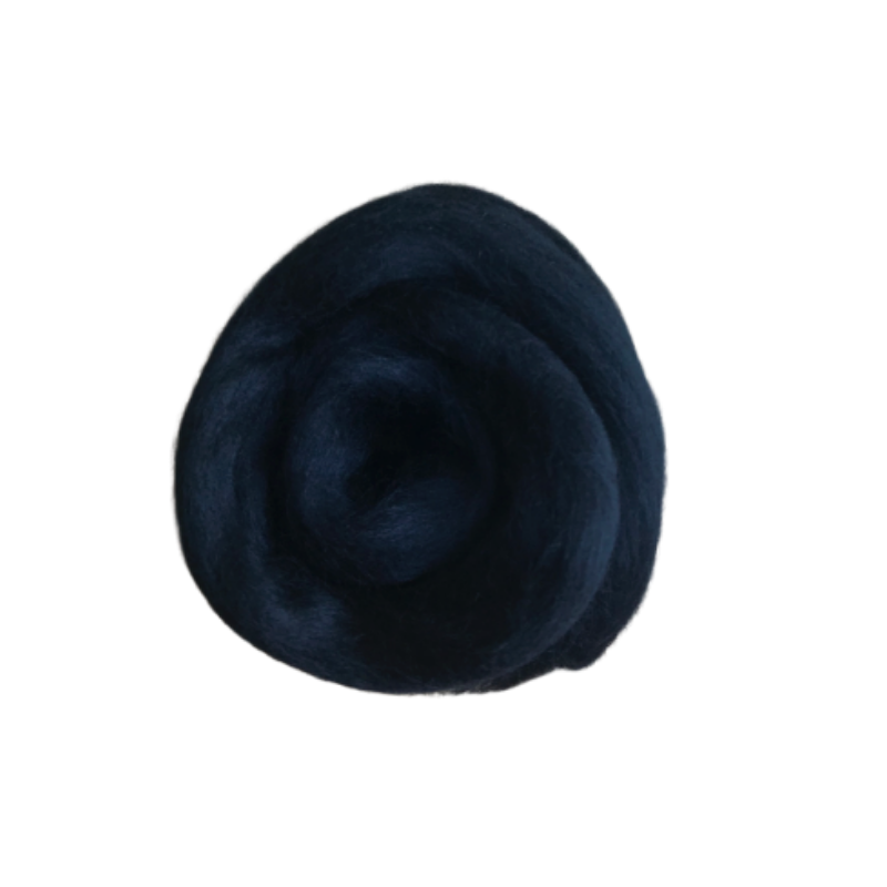 Needle Felting Wool Roving - Jet Black M003