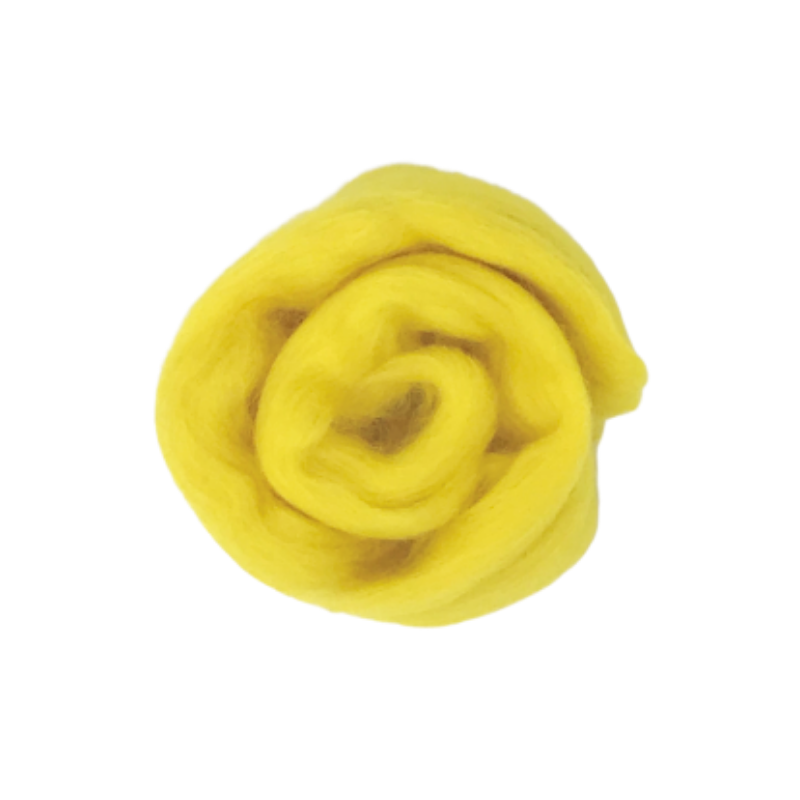 Needle Felting Wool Roving - Lemon Zest M027