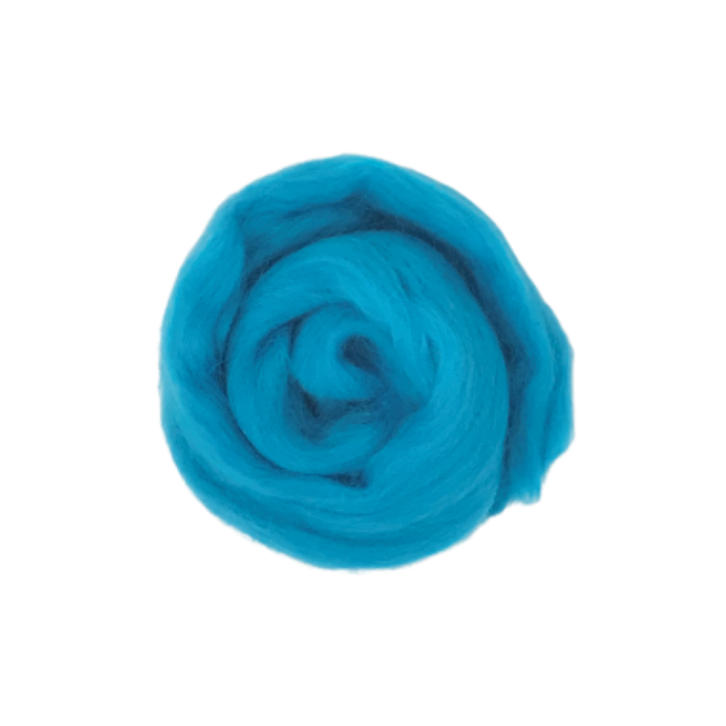 Needle Felting Wool Roving - Light Teal M016