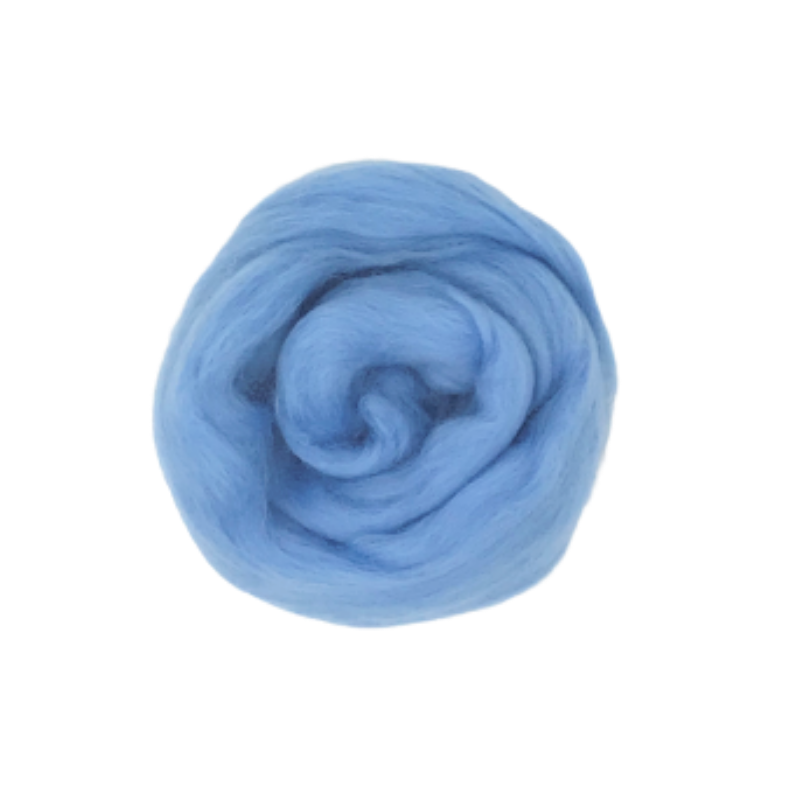 Needle Felting Wool Roving - Pastel Blue M017