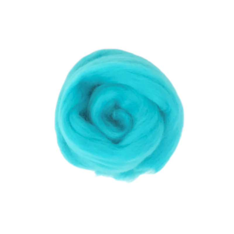 Needle Felting Wool Roving - Turquoise M015
