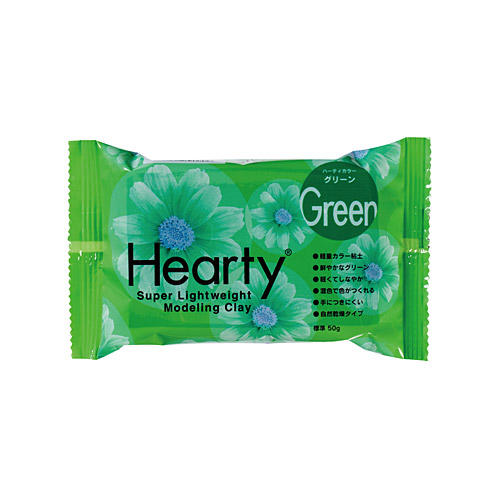 Padico Hearty Lightweight Air Dry Clay - Green 50g