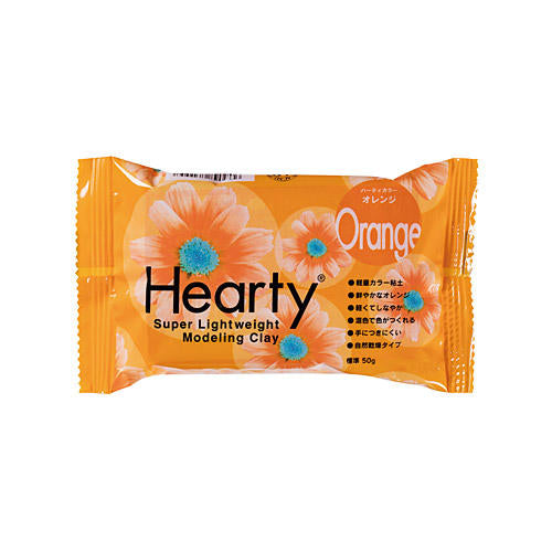 Padico Hearty Lightweight Air Dry Clay - Orange 50g