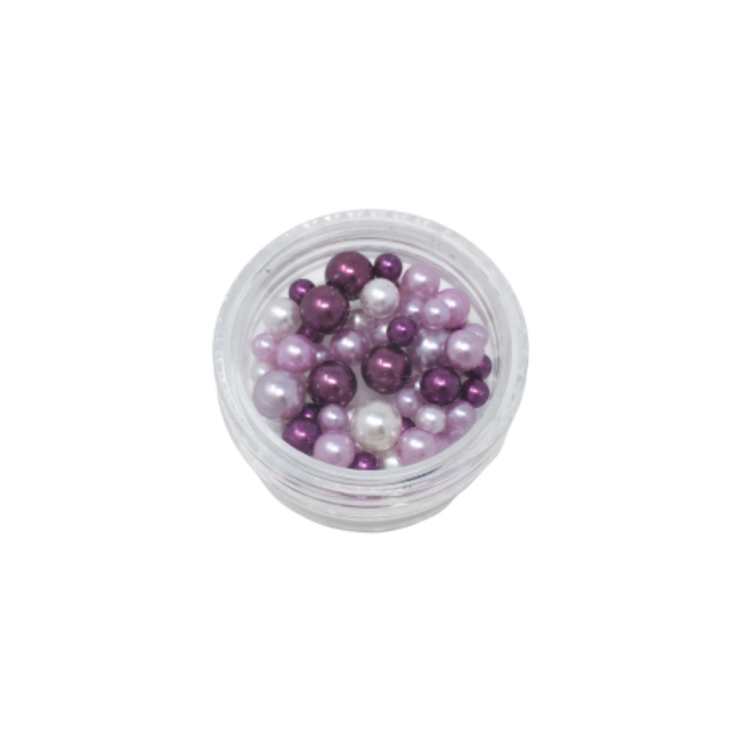 Pearlescent Beads for Resin Creation - Small Pot - Mixed Purple