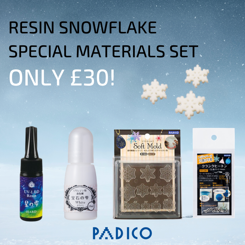 Padico UV Resin Snowflake Materials Set